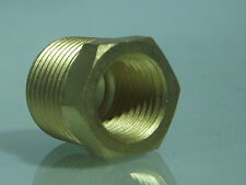 "1/4""NPT Male to 1/8"" Bsp Female  Bush Adaptor for Air Water etc, Brass"