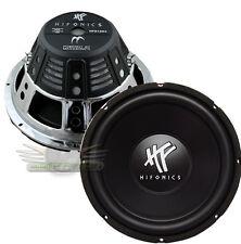 "New 2 Hifonics HFX12D4 1-Way 12"" Car Subwoofer (Pair) 1600W Car Audio DVC Sub"