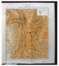 1924 Kingdon Ward - SNOW MOUNTAINS OF YUNNAN - Glaciers - COLOR MAP - China - 9