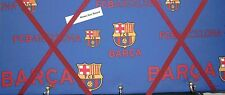 Barcelona FC fabric, Box Framed, Memo/message/pin/notice board,with key hooks