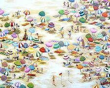 A3 SIZE CANVAS PRINT beach life australia ART PAINTING ANDY BAKER