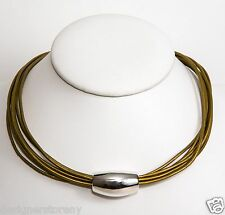 Simon Sebbag  leather necklace w/sterling silver bead NL90/INDS