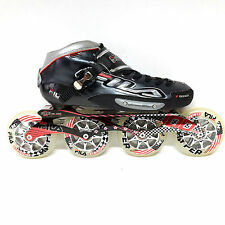 Fila F100 black Racing Line Speedskate Inliner Skates Gr. 47 / 12 100 mm Carbon