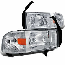 Scheinwerfer Dodge Ram pick up 94 95 96 97 98 99 00 01 Kristall chrome headlamps