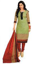 Varsha Fashions Designer Printed Crepe Salwar Kameez Unstitched Suit