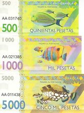 LOT 5 SETS Cabo Dakhla set 6 banknotes 2015 (private issue)