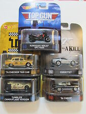 HOT WHEELS  RETRO ENTERTAINMENT SET OF 5  CHEVY CORVETTE TUMBLER KAWASAKI