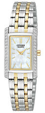 Citizen EK1124-54D Women's Two Tone Stainless Steel Swarovski Accented Watch