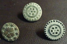 3 SMALL ANTIQUE BUTTON CENTURY XVIII OLD BOUTON BUTTON BOTON SEE MY SHOP CCB34
