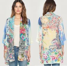 $245 JOHNNY WAS KIMONO JACKET CARDIGAN TUNIC SILK RAYON FLORAL SZ XXL 1X NWT