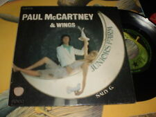 PAUL McCARTNEY & WINGS - JUNIORS FARM   - FRENCH PIC SL 45 - BEATLES