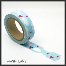 Washi Tape  -  'Love is in the air', Hearts, Clouds, valentine, Masking, Paper,