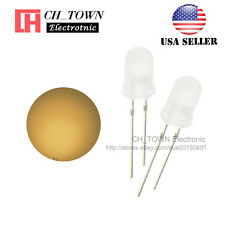 100pcs 5mm Diffused White Color Warm-White Light Round Top LED Diodes USA
