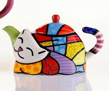 ROMERO BRITTO MINI TEAPOT - CAT  ** NEW **