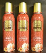 BATH BODY WORKS COMFORT PUMPKIN LATTE MARSHMALLOW WHIPPED SHIMMER LOTION MOUSSE