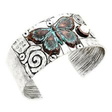 Butterfly Cuff Bracelet Silver Plated Women NEW