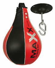 New Speed PUNCH Ball,Steel SWIVEL Boxing Punch Bag Mma Cow Hide Leather UFC