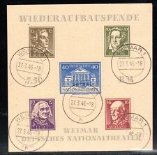 Germany / Soviet zone / Thüringen- 1946 National theatre - Mi. Bl. 3Ba FU