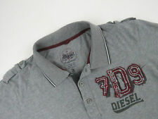 S3969 DIESEL POLO SHIRT TOP ORIGINAL PREMIUM GREY BASIC size 3