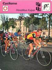 FICHE CARD: Tour-Versailles 1977 Hennie Kuiper Netherlands Cycling CYCLISME 70s