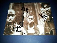 "A TRIBE CALLED QUEST X3 SIGNED 10""X8"" REPRO PHOTO PP HIPHOP RAP Q TIP PHIFE DAWG"