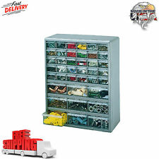 39 Drawer Storage Cabinet Parts Organizer Hardware Small Tool Bin Box Plastic
