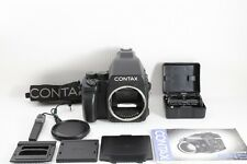 Contax 645 Medium Format SLR Film Camera Body w/MF-1 + MFB-1+ MFB-1A  Near Mint