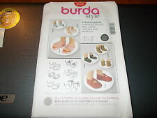 Burda Style Pattern 9512 ~ DOLL SHOES ~ (6) Styles of Baby Doll Shoes!