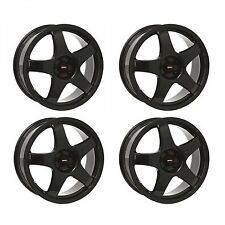 4 x Team Dynamics Black Pro Race 3 Alloy Wheels - 4x100 | 17x7 | ET38