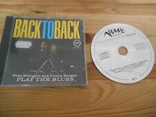 CD Jazz Duke Ellington / Johnny Hodges - Back To Back (7 Song) VERVE GERMANY