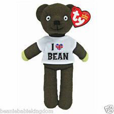 "TY Beanie Mr Bean Teddy Bear I Love Bean T'shirt  Soft Toy 9"" - 46204"