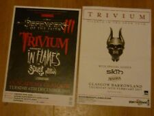 Trivium - Scottish tour Glasgow concert gig posters x 2