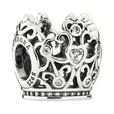 Authentic Pandora Silver NEW Disney Clear Princess Crown Cubic Charm 791580CZ