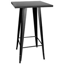 Loft Black Metal Pub Table w/Metal Top PUBTB Table NEW