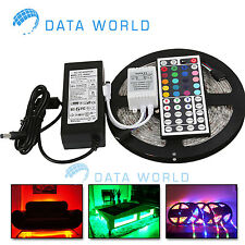 5M 300LED 5050 RGB Color Changing NON Waterproof Strip Light Remote Control