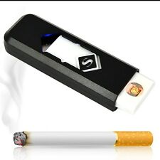 USB Electronic Rechargeable Battery Cigar Cigarette Lighter Flameless Gadget E2U