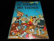 Peyo : Johan et Pirlouit 5 : Le serment des vikings Editions Dupuis 1967