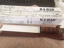 """Ka-Bar 02-1218 USMC Fighting Fixed Knife 5.25"""" Blade Leather Sheath (A417)"""