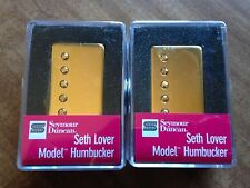 Seymour Duncan PAF Seth Lover SH-55 Humbucker Pickup Set Gold Covers