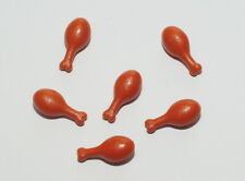 6 x Lego Chicken Turkey Drumstick Leg Dark Orange Short PART 4278013 / 33057 NEW