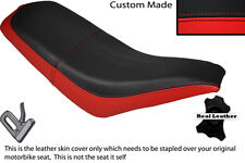 BLACK & RED CUSTOM FITS KAZUMA FALCON 110 150 250 ATV QUAD LEATHER SEAT COVER