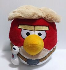 "Angry Birds Star Wars Luke Skywalker Plush Large Red White Plushy Hair 8.5"" EUC"
