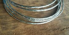 Three 925 Sterling Silver Hammered Bangles 3 x Handmade Solid 1.5mm Bracelets