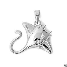 USA Seller Stingray Pendant Sterling Silver 925 Best Price Plain Jewelry Gift