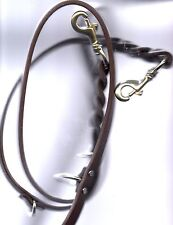 AMISH MADE K-9 POLICE 7 FOOT COW LEATHER DOG LEASH.  VERY HIGH QUALITY LEATHER