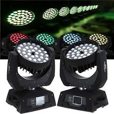 2x 360W Zoom RGBW Wash Light Led Moving Head Stage DMX Bühnenbeleuchtung Licht