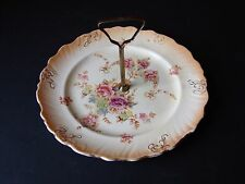 Antique Fieldings Devonware Blushware Cake Plate Windsor
