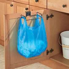 Trash Can Over the Cabinet Plastic Bag Holder for Kitchen Garbage Steel - NEW