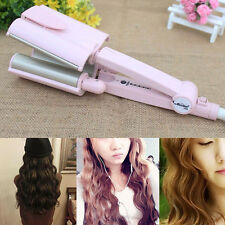 Hair Wave Waver Ceramic Iron Curler Curling 3Barrel Temp Control Curler 110-240V