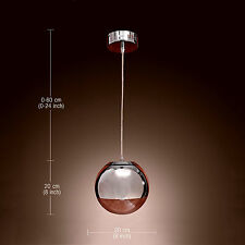 Modern 1-Light Hanging Pendant  Chandelier Ceiling Lighting Chrome Glass Lamp HQ